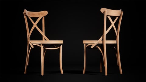 [UE4] Wood Chair Model
