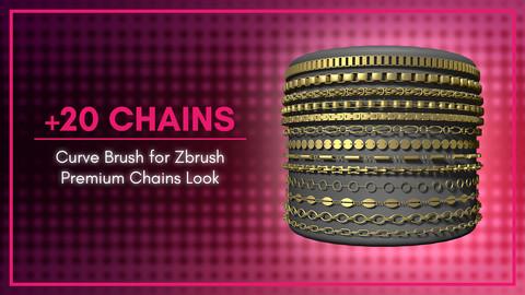 [IMM Brush] Premium Chains Curve Brush for Zbrush 2020
