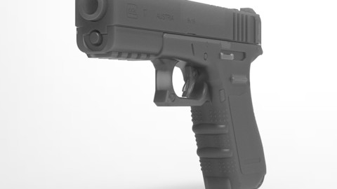 simple Glock 3D modeling .OBJ / .STL