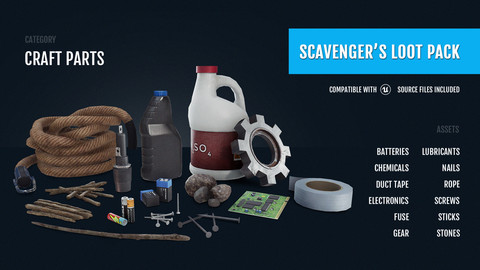 Scavenger's Loot Pack - Craft Parts