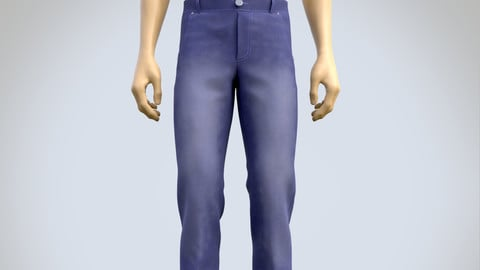 3D male jeans denim pants