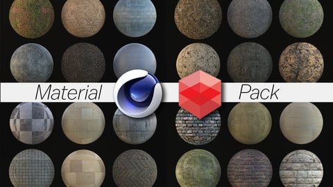 Redshift Rustic Material Pack 99  (Cinema 4d Only)