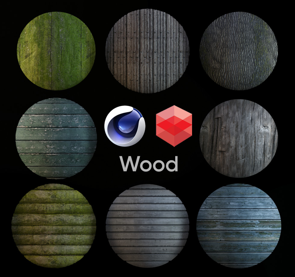 Tod Ryan - Redshift Rustic Material Pack 99 (Cinema 4d Only)