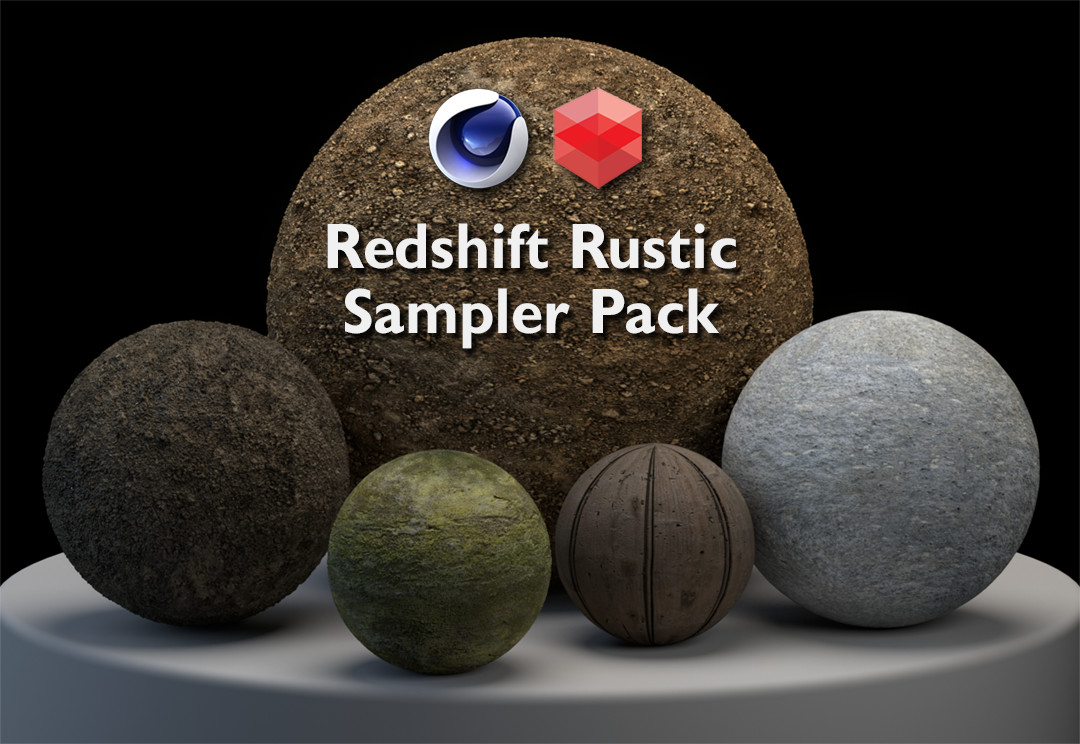 Redshift Rustic Material Sample Pack (Cinema 4D ONLY)