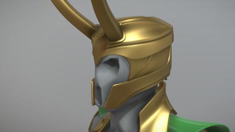 3D Printable - Loki Helmet