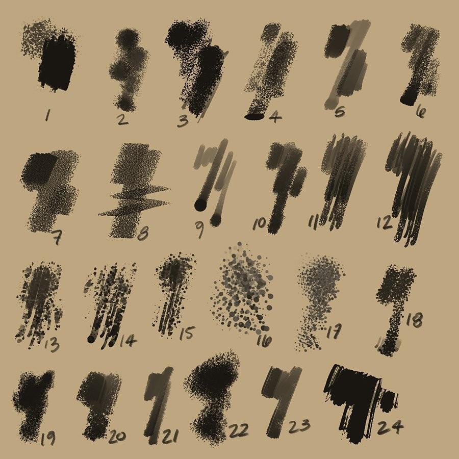 Aaron Blaise - Aaron Blaise | Custom Photoshop Brushes – Set 1