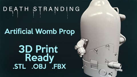 Death Stranding BB Pod - Artificial Womb Prop (For 3D Printing)
