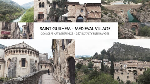 SAINT GUILHEM & MEDIEVAL VILLAGE PACK - PHOTO REFERENCE