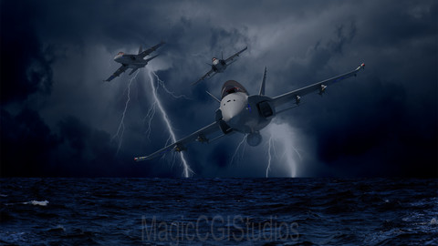 F/A -18 HORNETS - THUNDER & LIGHTNING