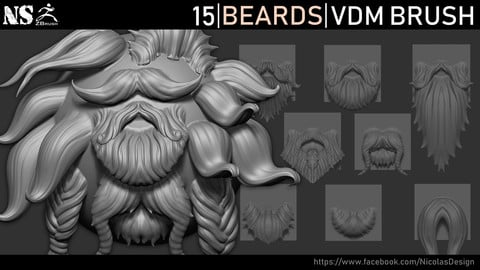Zbrush - Beards VDM Brush