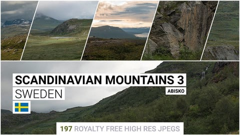 Scandinavian Mountains 3   Matte Painting / reference / photobash pack