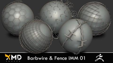 XMD ZBrush Brushes -  Barbwire & Fence IMM 01