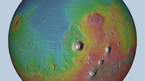 Mars 3D Globe 1