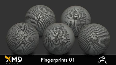 XMD ZBrush Brushes - Fingerprints 01