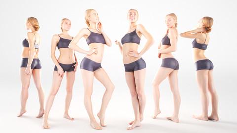 Scanned female sport bundle 9 poses