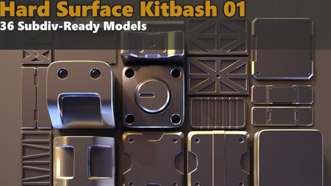 Hard Surface Kitbash 01 - Subdiv-Ready