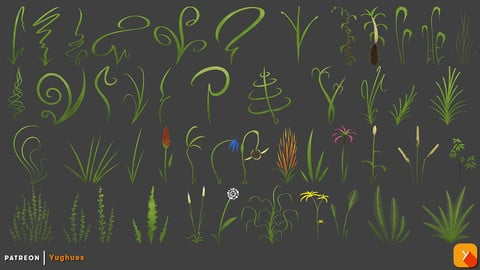 Yughues Stylized LawnGrassWeeds