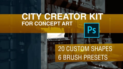 City Creator Kit - Custom Shapes & Brush Presets