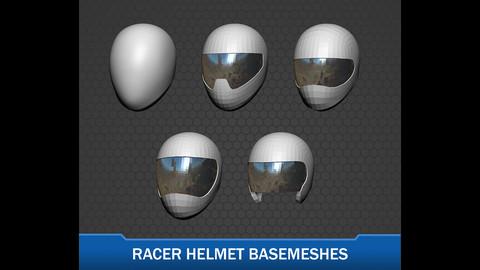 Racer Helmet Basemeshes