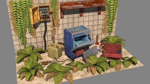 Kitchen IceMatic.This scene contains eight different objects.The scene is measured in centimeters.All textures have a resolution of 4096.This model can be used in games and for advertising purposes, as it contains a small number of polygons.