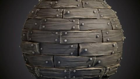 Stylized Old Wooden Planks - Substance Designer