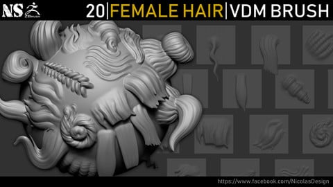 Zbrush - Female Hair VDM Brush