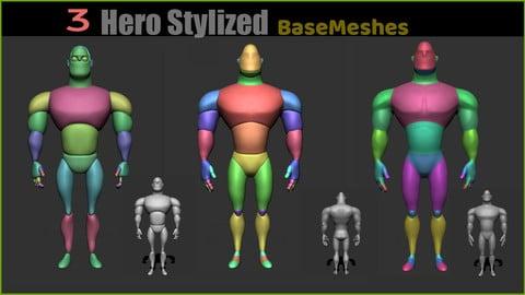 Hero Body Stylized BaseMesh