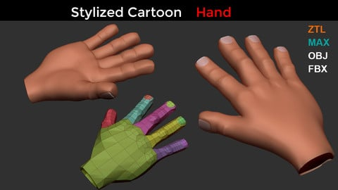 Stylized Cartoon Hand Model
