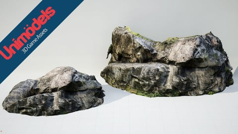 Unimodels Stone Walls Vol. 2 for Unreal Engine 4.18 or higher