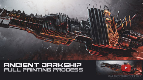 Ancient Darkship [full painting process in Photoshop]