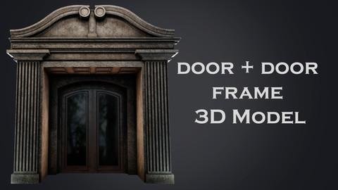 Door + door frame 3d model