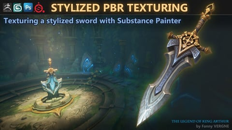 Texturing a stylized sword with Substance Painter (Stylized PBR) - Artstation Challenge