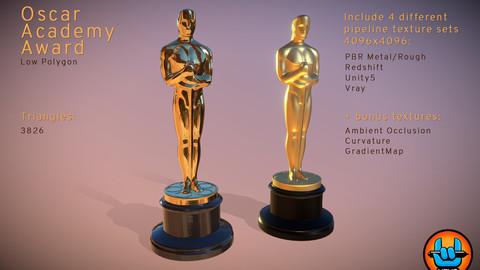 Oscar Academy Award - Low Polygon