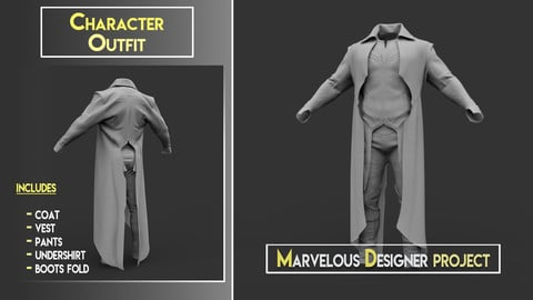 Character Outfit - Marvelous Designer Project