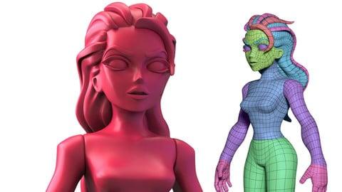 Infinidudette - Stylized Female Base-Mesh