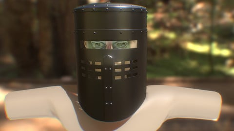 Monty Python's Black Knight Helmet - 3D Printable Files