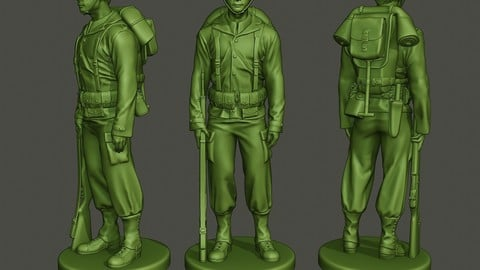 American soldier ww2 Stand A1