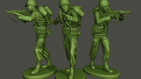 American soldier ww2 Shoot Stand A2