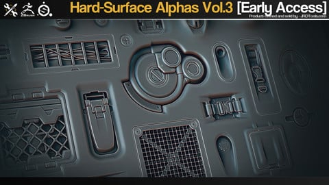 Hard-Surface Alphas Vol.3 [Early Access]