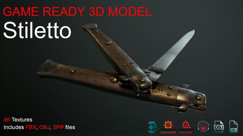 Stiletto- Game ready animated model