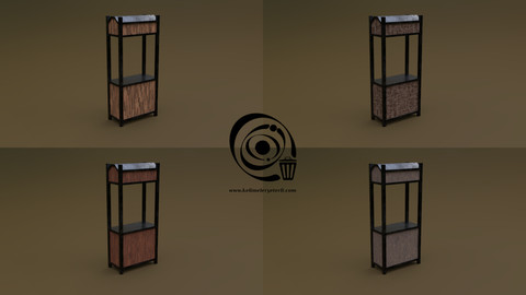 Trade stand 15 4in1 R - 4 PBR Texture 1 Model
