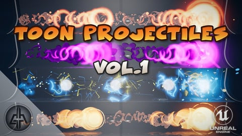 Toon Projectiles Vol.1 - Unreal Engine