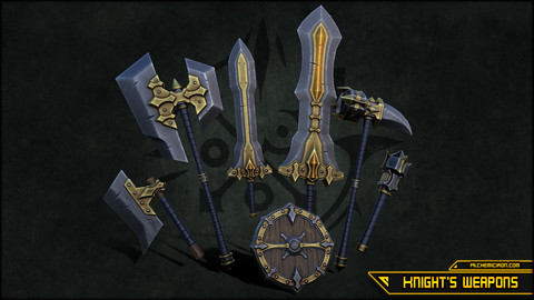 Stylized Knight's Weapons