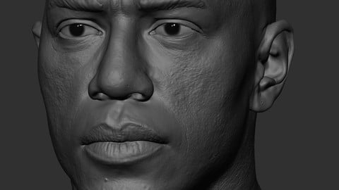 Realistic Male Head African