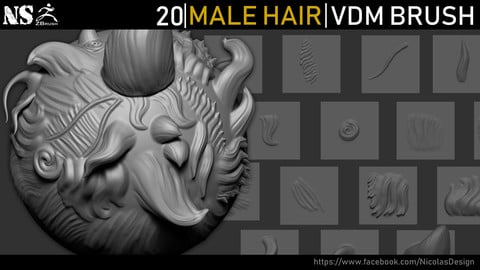 Zbrush - Male Hair VDM Brush