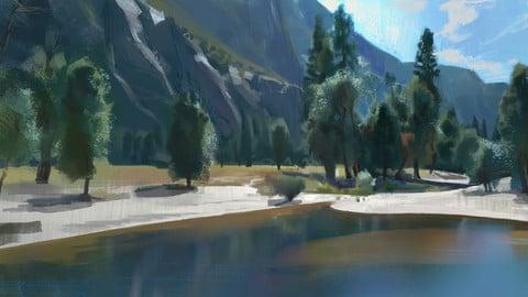 Virtual Plein Air painting process