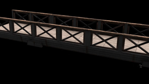 Old Bridge Free 3D model