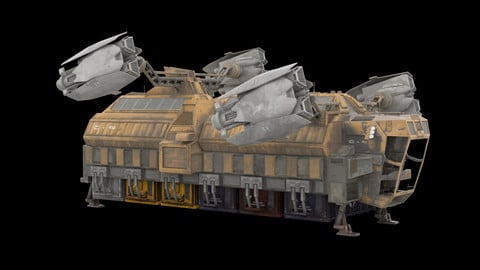 Sci Fi Spaceship - Cargo Ship 3D model