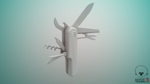 Swiss Army Knife -Decimated-HighPoly