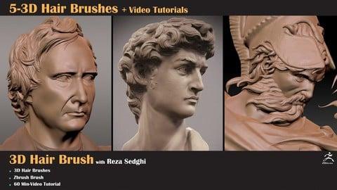 5-3D Hair Brushes+Video Tutorial